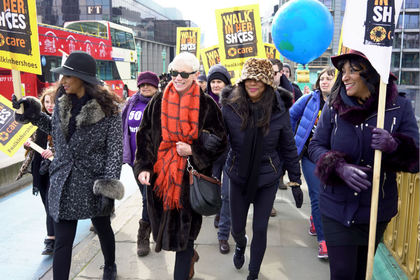 SISTER SLEDGE JOIN HANDS WITH ANNIE LENNOX TO LEAD CARE INTERNATIONAL'S 'WALK IN HER SHOES' MARCH