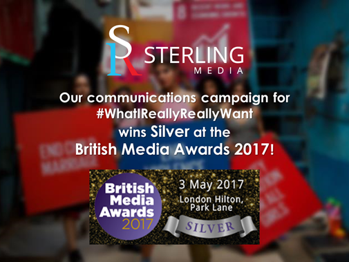 BIG WIN FOR GLOBAL BUSINESS CONSULTANCY STERLING MEDIA AT BRITISH MEDIA AWARDS 2017