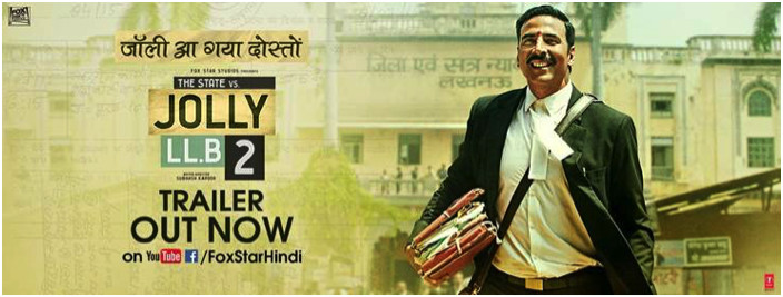 TRAILER OF AKSHAY KUMAR'S UPCOMING COURTROOM DRAMA JOLLY LL.B 2 MAKES AN OUTSTANDING IMPACT!