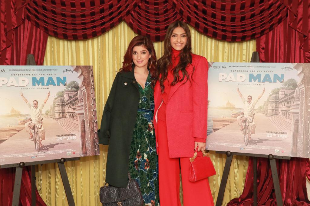 Twinkle khanna and Sonam Kapoor at Pad Man Photocall