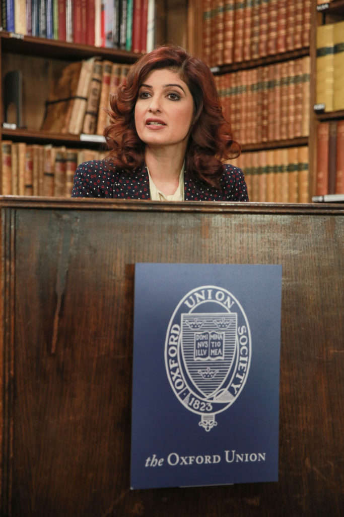 Twinkle Khanna speaking at The Oxford Union